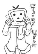 にーこにこ兄さん(塗り絵用)
