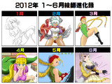 2012上半期絵師進化録