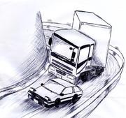 【落書き】AE86 vs  トレーラー