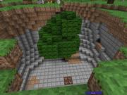 【minecraft】大きな穴の中の巨木【神秘】