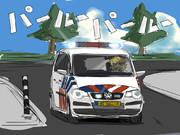 オランダのパトカーとパルさん