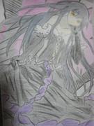 アクセル・ワールドの黒雪姫を描いてみた! カラー色鉛筆