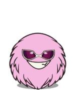 ピンクの毛玉