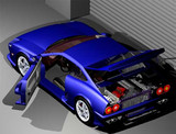 3D スポーツカー