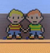 リュカとクラウス (MOTHER3xMinecraft)