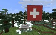 マインクラフトで作ったスイスの国旗