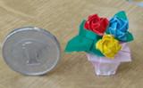 ib バラを小さく折ってみた。