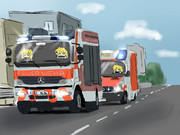 ドイツの消防車+救急車INパルスィ