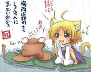 梅雨のケロちゃん