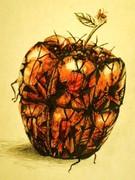 落書き 虫リンゴ