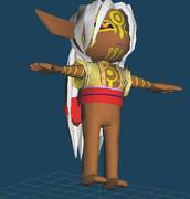 【モノノ怪MMD用】上半身の着物