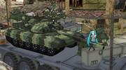 T-90 ATカラー風迷彩、正面側