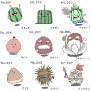 ゆるキャラ辞典 No.001~009