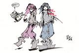 ロボ子とメカ子、ぶたボットを添えて
