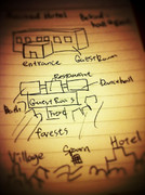 【静画】廃墟と暮らすマインクラフト - 廃ホテル編のラフイメージ