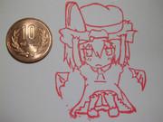 うなさんの(」・ω・)」うー!(/・ω・)/にゃー! レミリア彫ってみた