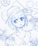 麦わら帽子の女の子