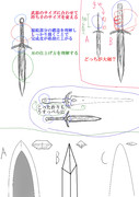 やまと氏に送る 剣の描き方のコツ