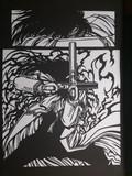 【切り絵】神を否定した化物