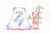 パンダとチャイナ服