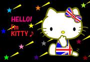 キティ ~ユニオンジャック~  -バリエーション 壁紙風-