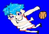 マウスで描いた黒子のバスケの黒子テツヤ Kuroko's Basketball