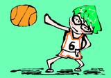 マウスで描いた黒子のバスケの緑間真太郎 Kuroko's Basketball