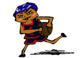 マウスで描いた黒子のバスケの青峰大輝 Kuroko's Basketball