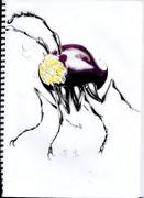 五月病マリオさんの芋虫を描いてみたらこうなった