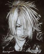 黒画用紙にガゼットのれいたさんを描いてみた☆