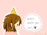 UさんHappyBirthDay(*´д`*)