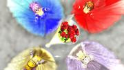 秋音4姉妹のウェディングドレス