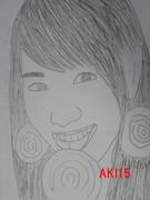 河西智美の似顔絵です。