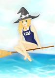 魔理沙のスク水描きました