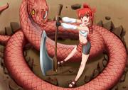 蛇、武器娘