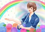 虹色Rain~専属で描かせて頂いてる生主様用枠絵10〜