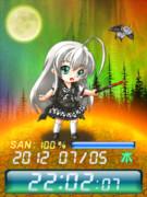 ◆這いよれ!ニャル子さん ニャル子 待受Flash時計 & ライブ壁紙