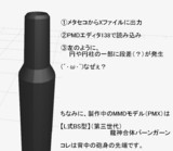 【MMD質問】メタセコからPMDエディタに持って来たら・・・