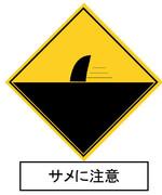 サメに注意