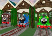 あの機関車達もはなめがねー