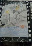 美術の授業で描いた Little Prayer