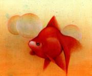 金魚とシャボン玉