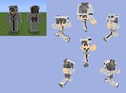 【Minecraft 】スケルトン浴衣