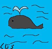 クジラをかいた