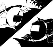 白と黒【影絵】
