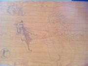 学校の机に落書きしてみた