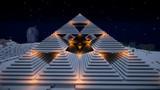 マイクラで幾何学模様なピラミッドができた
