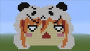 Minecraftでパンダ桃箱