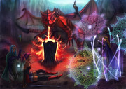 ドラゴンとの戦闘