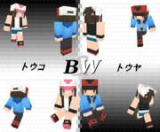 【Minecraft】ポケモンBW トウコ&トウヤスキン【修正版】